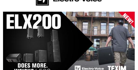 Controllo remoto sui diffusori Electro-Voice Serie ELX200
