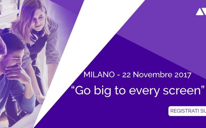 "Avid e Adobe ""Go big to every screen"", Milano 22 novembre"