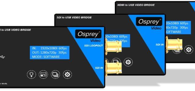 Osprey Video dispositivi USB Video Bridge: l'acquisizione video qualità broadcast USB 3.0