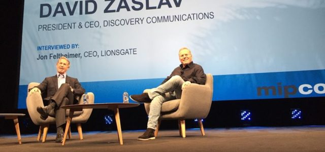 Al Mipcom di Cannes Davis Zaslav è la personalità TV del 2017