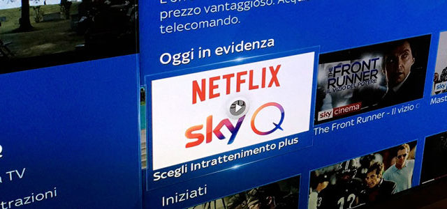 Sky e Netflix insieme su Sky Q