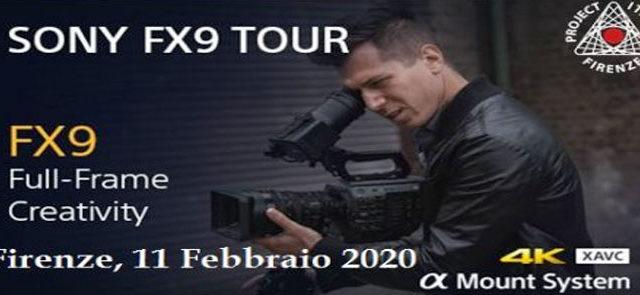Sony e Project Italia con la camera PXW-FX9 & XDCA-FX9 a Firenze l'11 febbraio