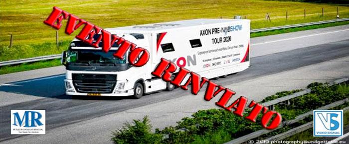 L'OB Van di Axon NON arriverà in Italia il 16 marzo a causa del Coronavirus
