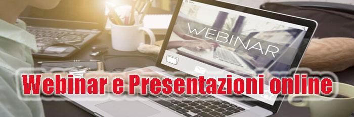 Webinar e Presentazioni online