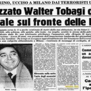 28 maggio 1980, 40 anni fa l'omicidio di Walter Tobagi